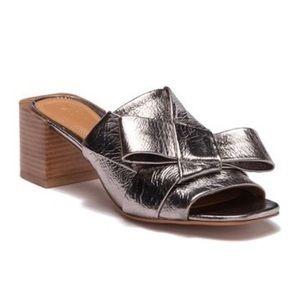 MERCEDES CASTILLO Dafne Silver Block Heel Mule 10